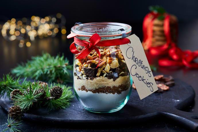 Gå bort-present: chokladcookies